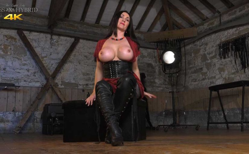 Big Tits Sexy Leather Thigh Boots
