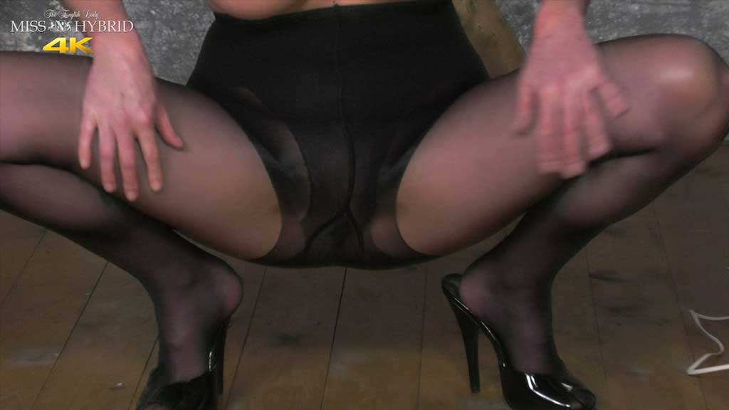 Dungeon magic wand, nylons and wet pantyhose.