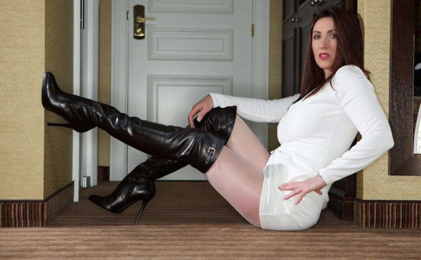 Wet Wednesday Leather Thigh Boots